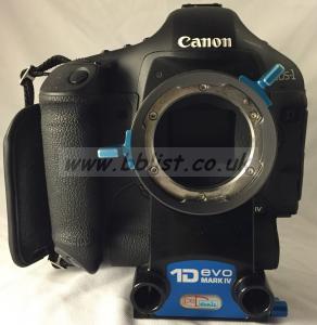 Canon EOS 1D mark 4 with PL-mount Denz