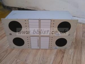 2x BBC twin rack mounted audio speakers