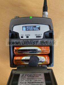 Wisycom MTP40S x2 Pocket Transmitters