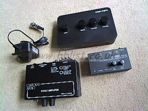 Canford tiny 12v amp and a headphone amp etc