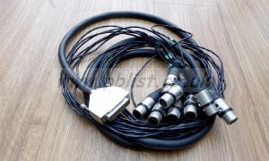 8 Way extns. 25pin D plug to 8 XLR Male and Female. 3m each.