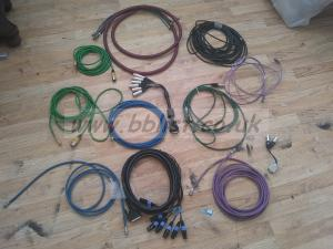 Lot of broadcast video and audio cables