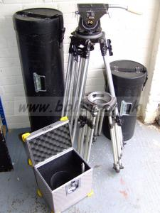 RONFORD F4 HEAD with M/DUTY TALL & SHORT TRIPODS All Cased.