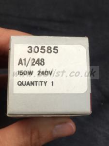 Bundle 5 x GE 240V 150W HALOGEN Lamp/bulb 30585