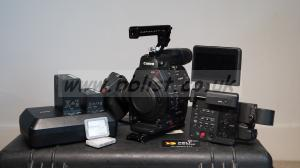 Canon Eos C300 Mark II camera with accessories
