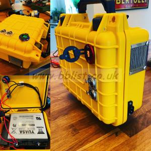 Lead Acid Battery Case w/ Charger - 12v 22Ah SLA