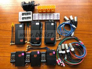 3 x Audio Ltd 2040 radio mics with Ipower batteries