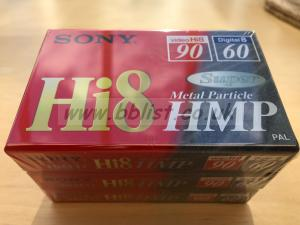 SONY Hi8 Super Metal Particle HMP video tapes