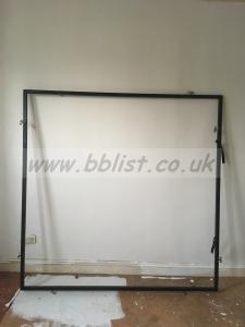 6 foot black frame