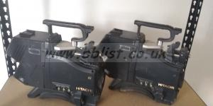 2x Hitachi V-21W 16x9 CCD Digital Pal Cameras