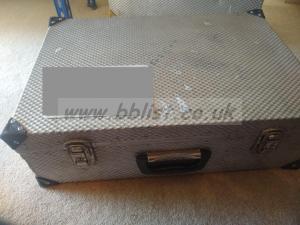 Metal silver flight case