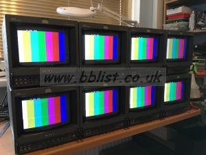 "9"" Sony Trinitron HR broadcast monitors"