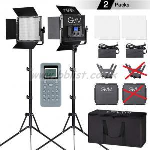 2 X GVM LED Video Lights kit Bi-color 3200K-5600K