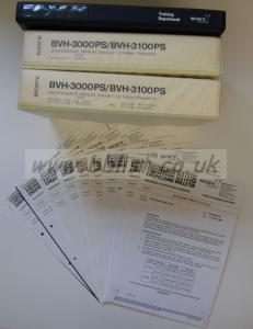 """SONY BVH 3000PS (1"""" C FORMAT) MANUALS"""