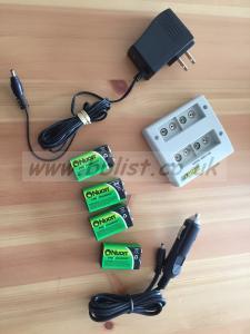 Powerex / 4 bank Charger / 9 Volt battery