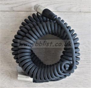 Neutric 3 pin XLR - XLR  2-5mtr Heavy Duty Coiled Cable.