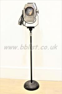 Strand Electric 45 vintage spotlight with cast iron stand.