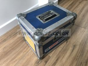 Sturdy metal flight case for sale 32x29x29 External