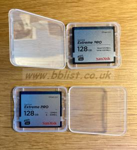 2x SanDisk Extreme PRO CFast 2.0 Memory Cards, 128 GB