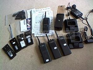 Motorola Marine handheld  radio and  a  walkie talkie kit