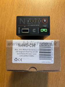 CoreSWX NANO C98 BP-A battery for Canon cameras