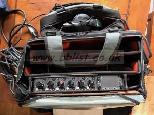 Sound Devices 664 mixer and various mics/cables