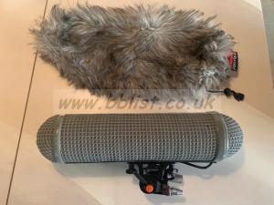 SANKEN CS3e condenser shotgun microphone with Rycote.