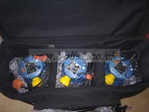 Arrilite arri 3x 800w redhead kit in bag with stands