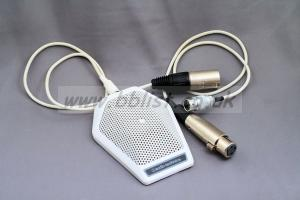 Three Audio Technica AT851RW white boundary layer mics