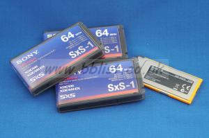 Three Sony SxS-1 64Gb cards