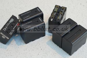 Six branded replacement for Sony NP970 batteries