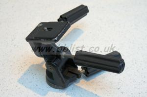 Manfrotto model 141 three-axis lock pan and tilt head