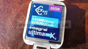 INTEGRAL 32gb C-FAST 2.0 CARD + USB 3.0 READER