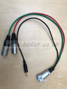 10 pin hirose to 2 XLRs breakout cable