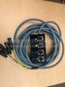 Compact 4 way stage/wall box with cable snake