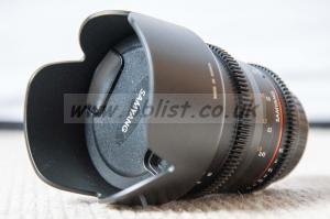 Samyang 50mm T1.5 VDSLR lens, Canon EF Fit