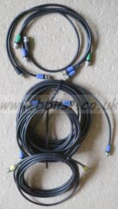 7 BNC Cables, Van Damme Brand, Various Lengths