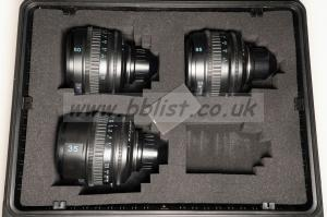Sony 35mm, 50mm, 85mm T2 PL Lens Set