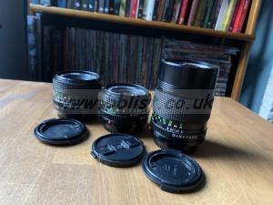 Canon FD Lens Set - 28mm 50mm 135mm