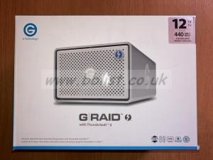 12TB G-RAID with Thunderbolt 3 boxed in excellent condition