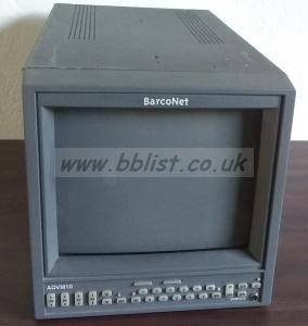 Barco ADVM-10 10inch CRT SDI Video Monitor
