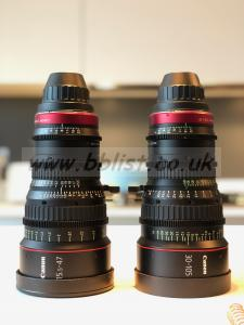 Canon Cine Zoom set 15.5-47mm & 30-105mm PL mount