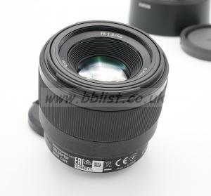 Sony 50mm f1.8 Full Frame E-mount lens.