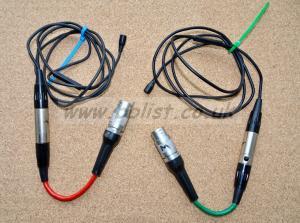 2 Sennheiser MKE 2-R Lavalier microphones