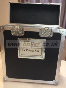Flight case for 1'x1' label light LED