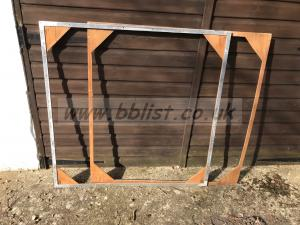 Quantity two 4'x4' wood and Ally frames with frame holders