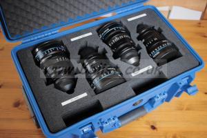 Set of 4 x Schneider Kreuznach prime lenses