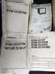 Sony BVM monitor service manuals