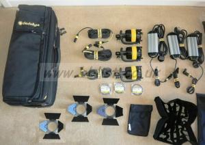 DEDOLIGHT 3 Head KDL4-BI3B LED Bi-Colour  Lighting Kit