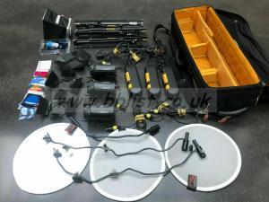 3x Head Dedolight kit DLH4 DT24-1E dimmer Dedo transformers